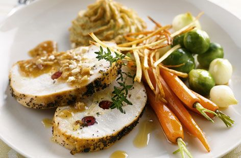 Roast turkey with pork, ginger and lime stuffing   Recipe ...