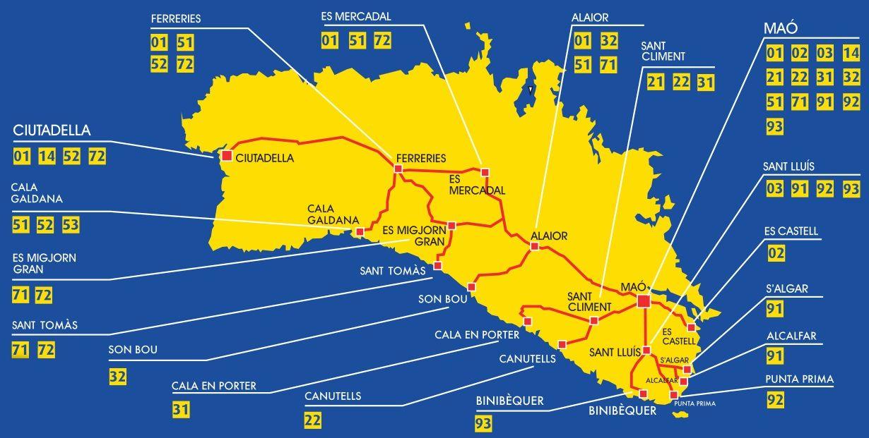 Maps of Menorca Menorca Diferente Gua de Turismo Menorca