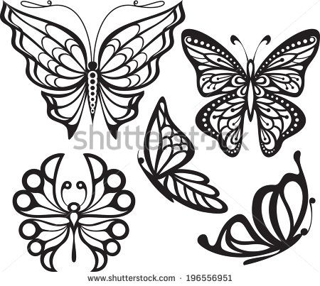 Easy Butterfly Drawings Black And White Images Butterfly