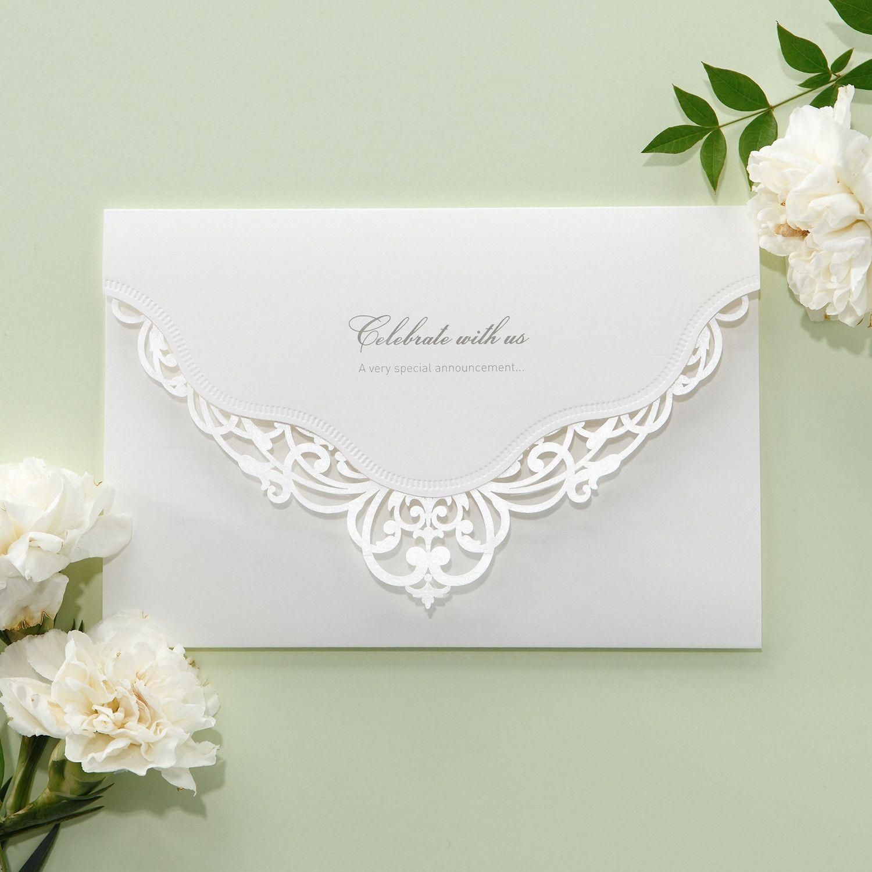 White Victorian Laser Cut Lace Wedding Invitations Elegant Beautiful Cards Itsinvitation: Victorian Elegant Wedding Invitations At Reisefeber.org