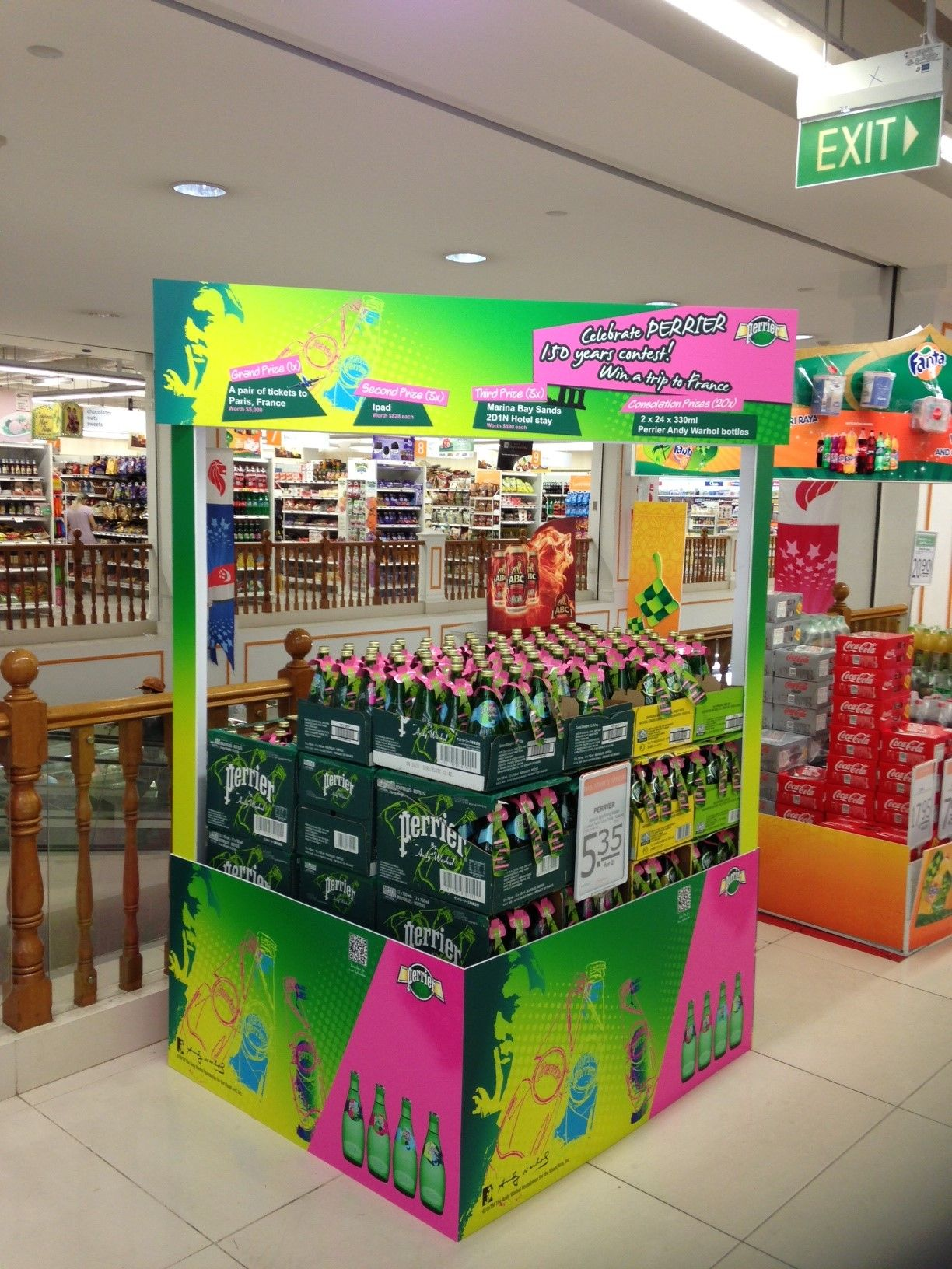 Perrier Andy Warhol Island Wide Promotion