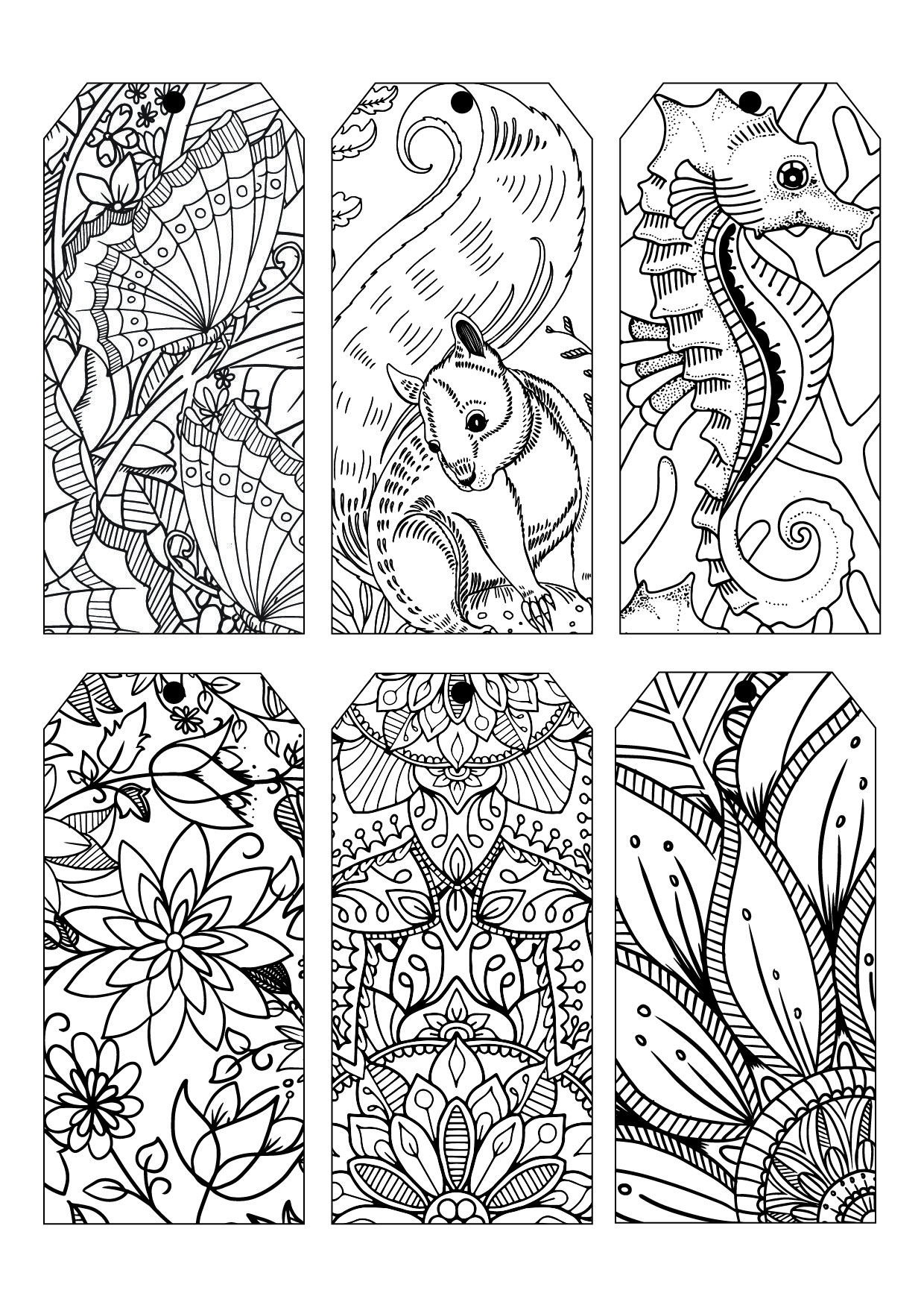 Bookmarks to color adults - Free Coloring Plate Adult With Spectrum Noir More