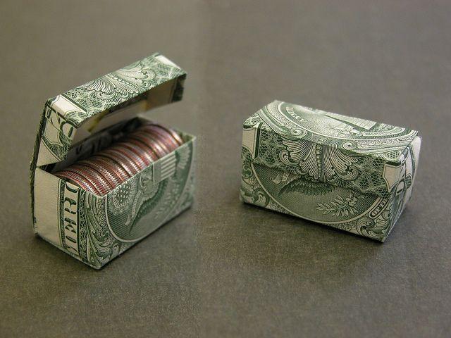 Photo of Dollar bill dime box