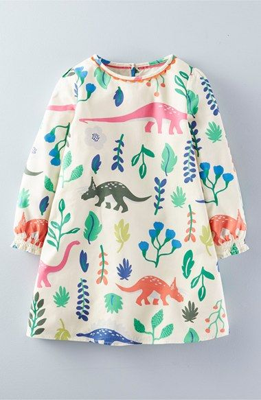 Mini Boden Florasuarus Smock Dress Toddler Girls