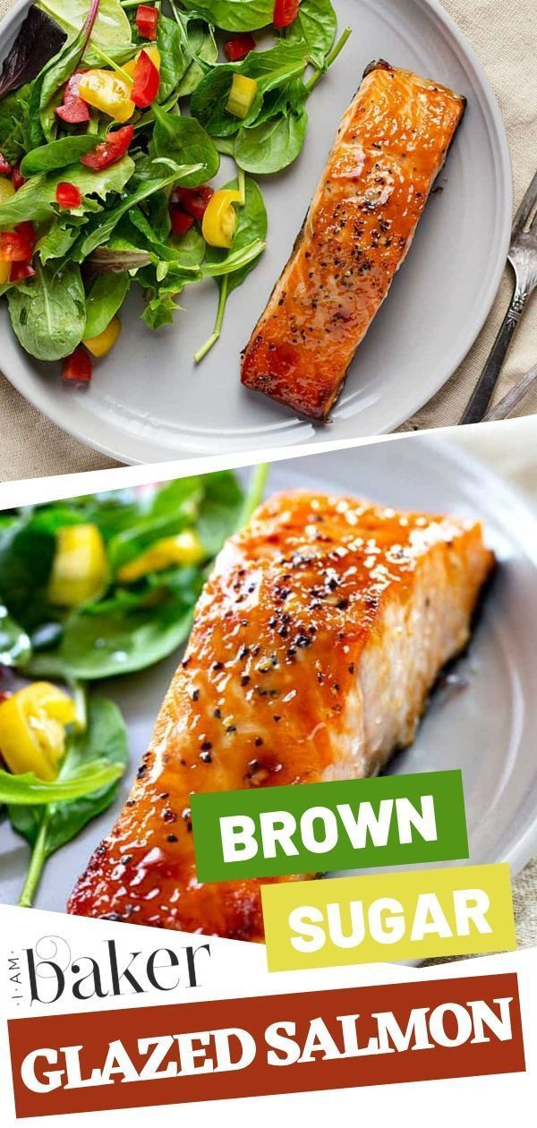 Brown Sugar Glazed Salmon | i am baker