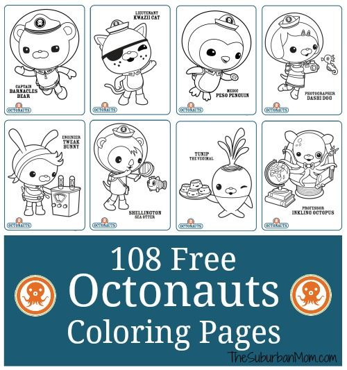 - 108 Free Octonauts Printable Coloring Pages - TheSuburbanMom Octonauts  Birthday Party, Octonauts Birthday, Octonauts Party