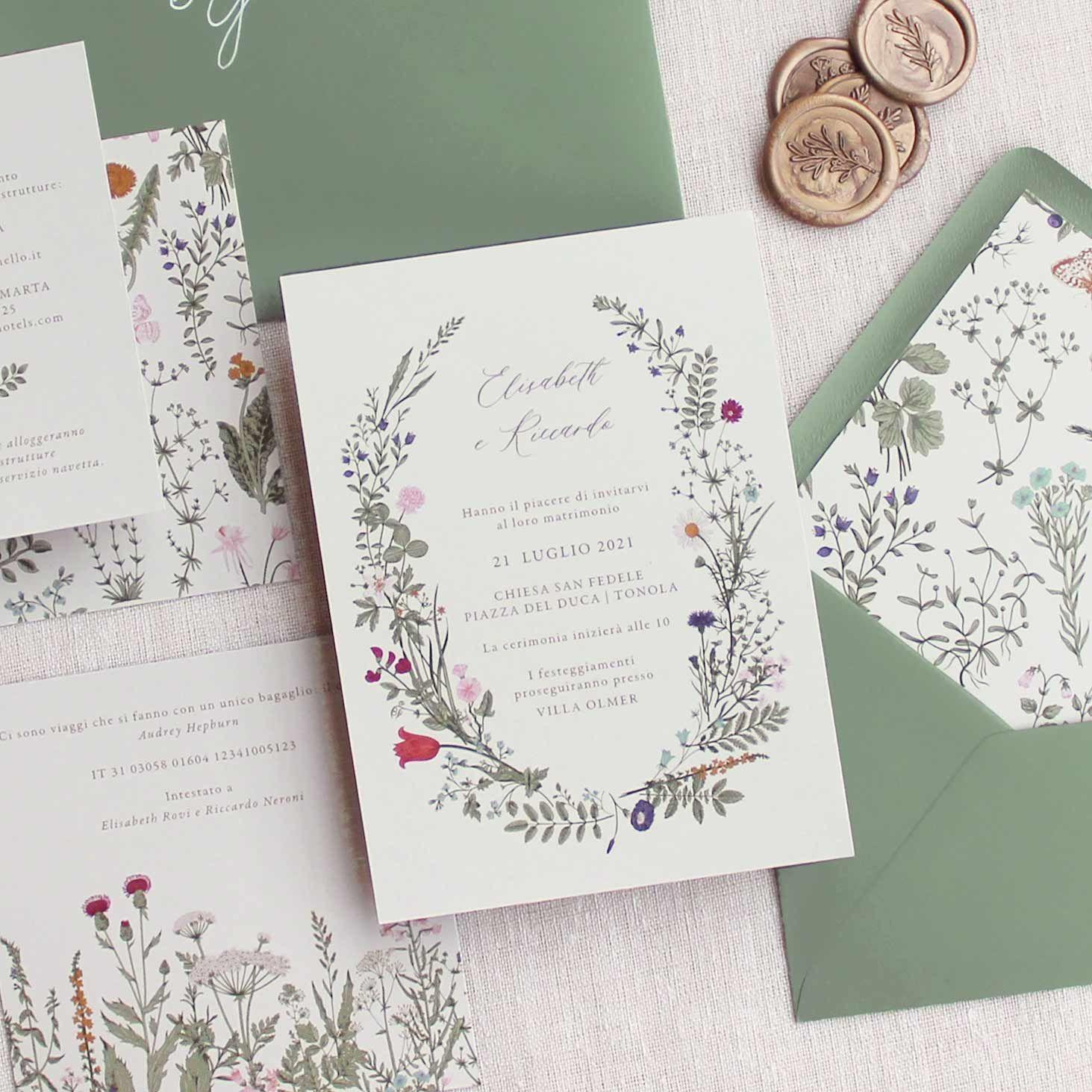 Wildflower Margherite Fiori Secchi Floreale Partecipazioni Inviti Nozze Matrimonio 2021 Sposi Nel 2020 Inviti Di Nozze Matrimonio Con Fiori Partecipazione Di Matrimonio