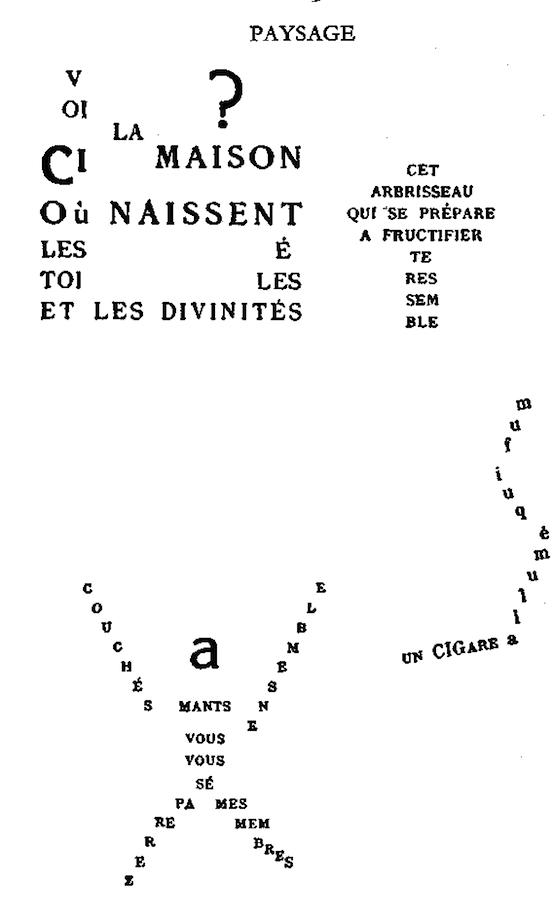 Paysage Ondes Calligrammes Poèmes De La Paix Et De La