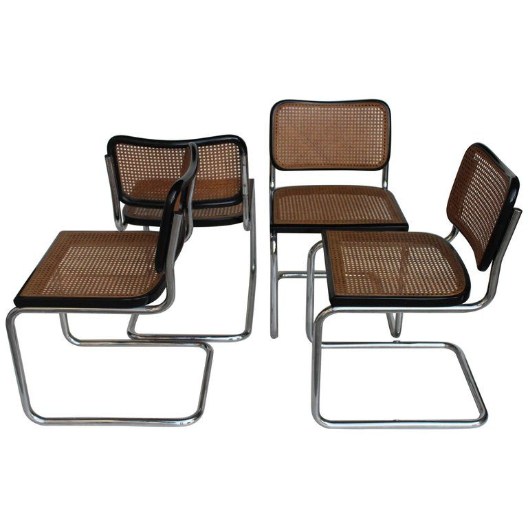 """Original GAVINA Set of Four """"Cesca"""" MidCentury Chairs by"""
