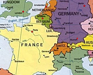 Map Of France And Holland Belgium.England France And Holland The Core Nations Established