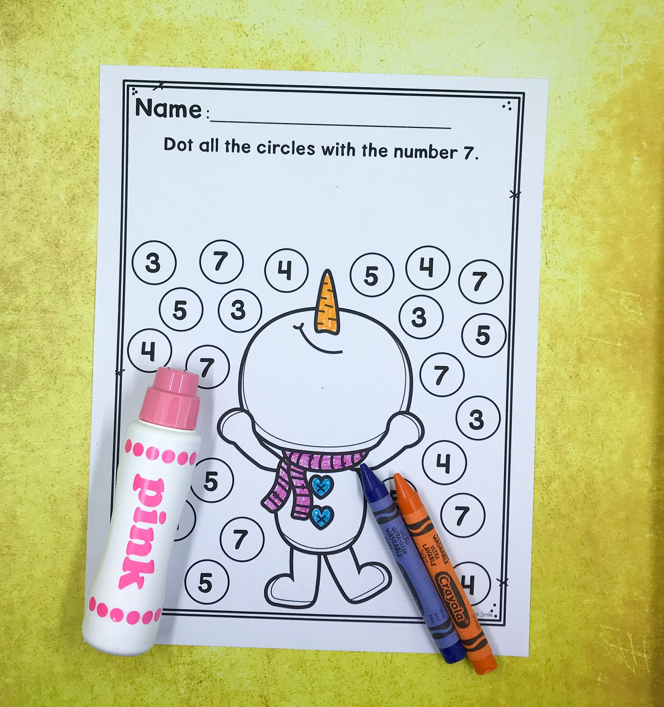 Editable Worksheet For Numbers To 10 Practice