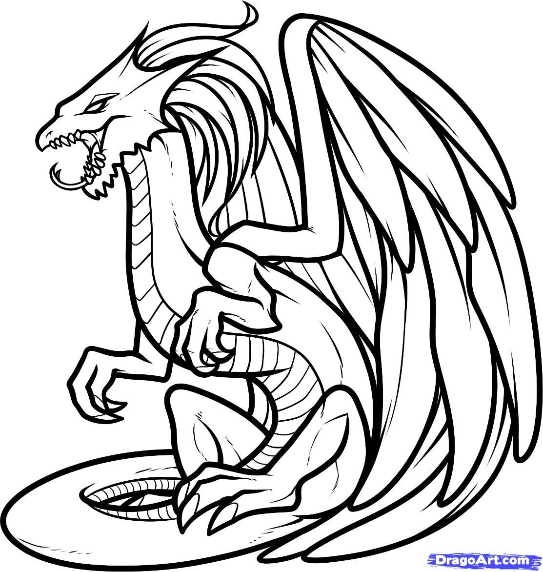 Realistic Dragon Coloring Pages Realistic Dragon Head