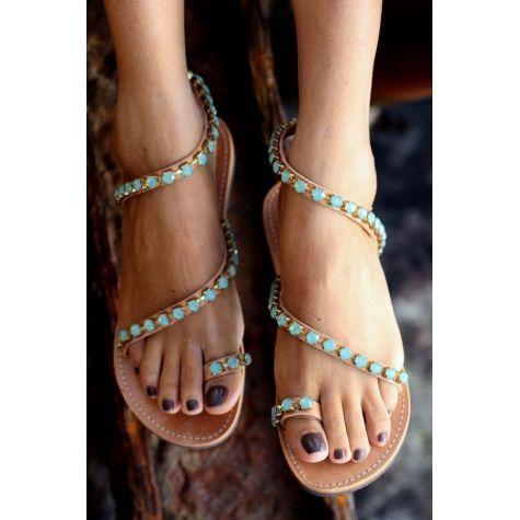 SHOES :: SANDALS :: BRIDAL :: Venus Swarovski original crystals Pacific Opal - elinalinardaki.com \\ shoes, jewellery, accessories