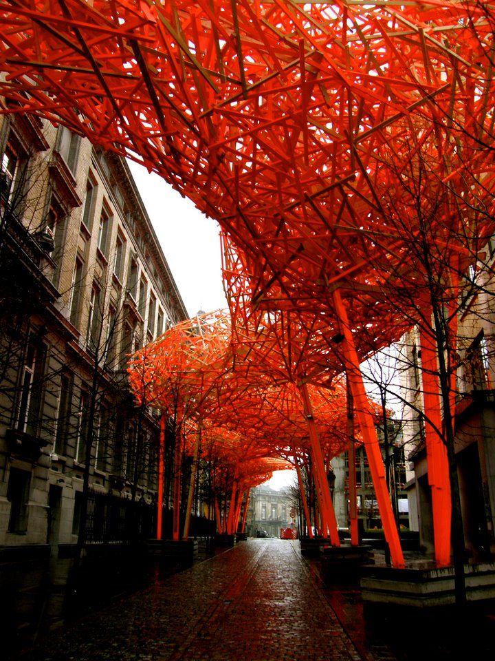"""""""The Sequence"""" de Arne Quinze, em Bruxelas - Bélgica."""