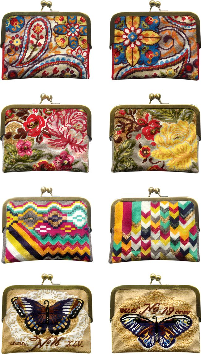 Needlepoint Purse Kits Coin Sch By Felicity Hall