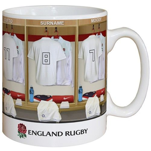 Personalised England Rugby Dressing Room Mug From Personalised Gifts Shop Only 9 99 Mugs England Rugby Rugby