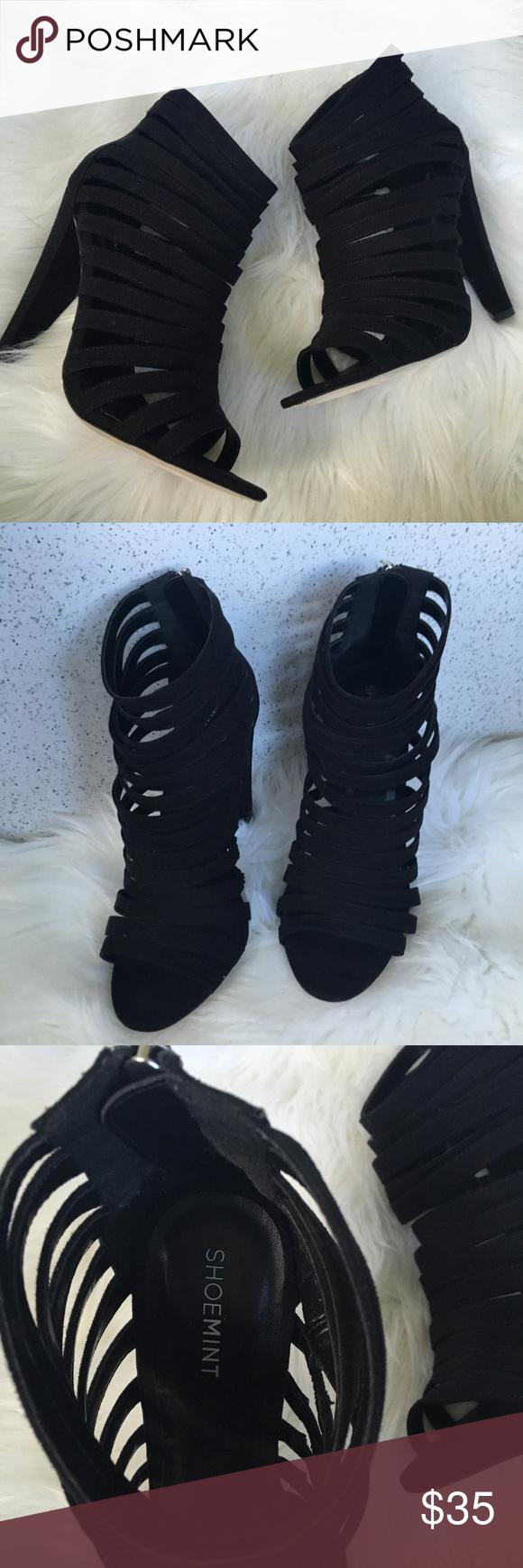 Strappy black heels black heels shoes heels and black