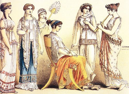 Ancient Greek Clothing | You see how the women were dressed. The ...