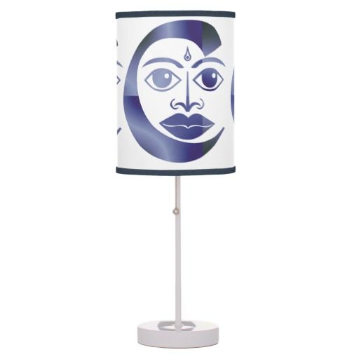 Cool Blue Face Table Lamp $42.95