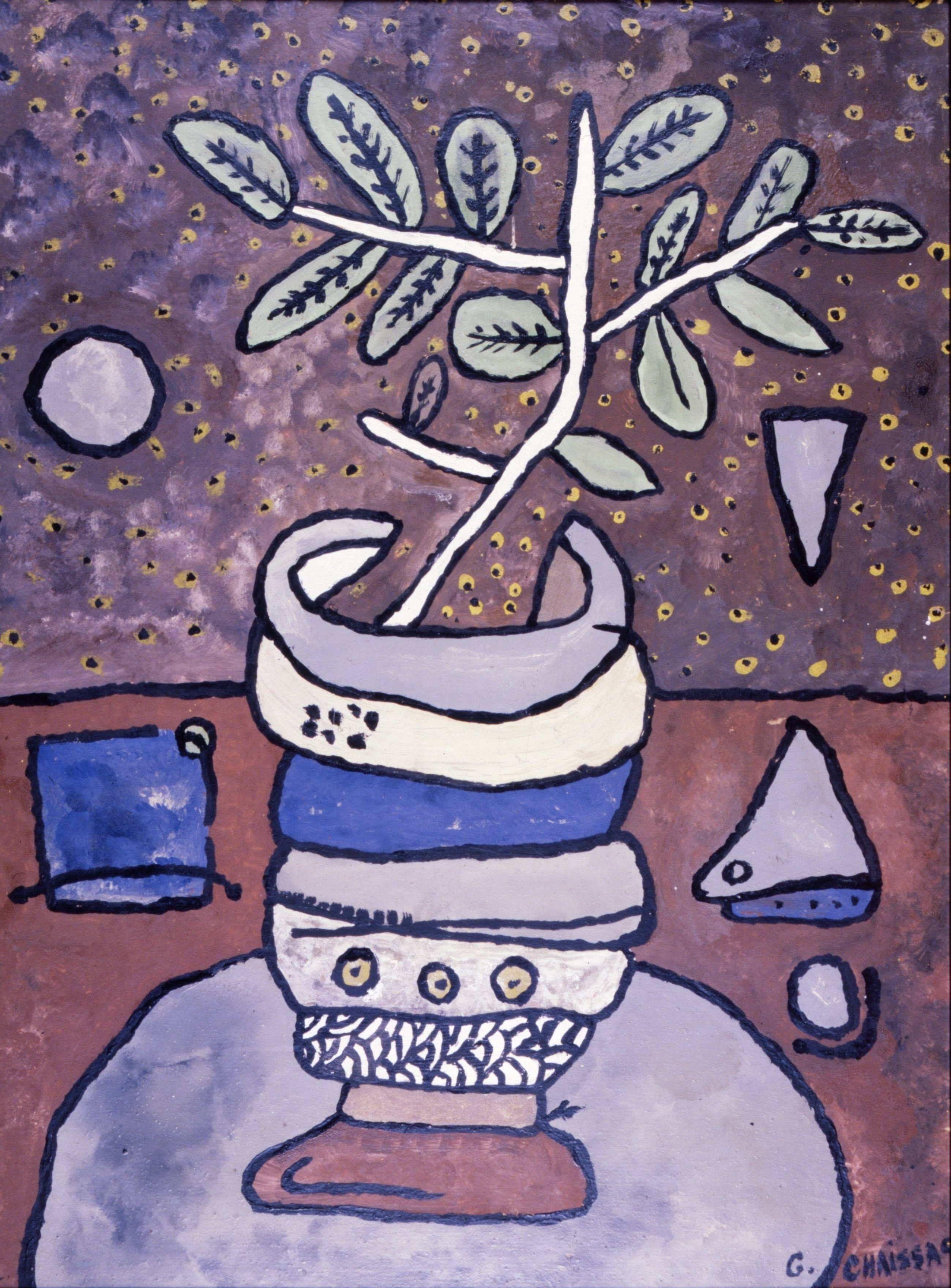 Gaston Chaissac, Nature morte, 1952