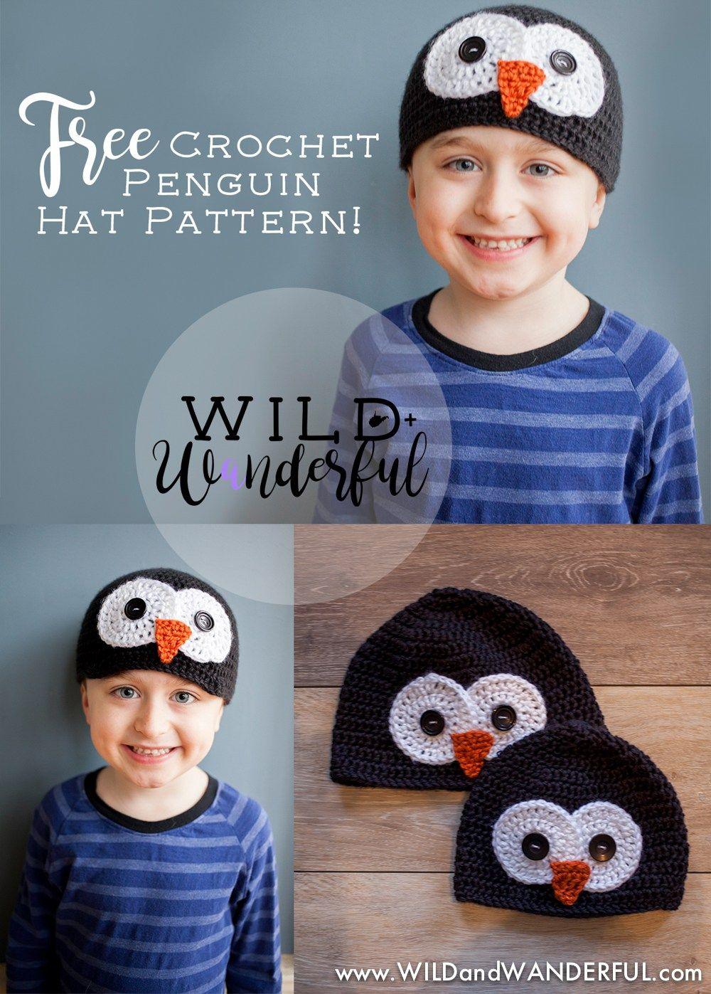 Penguin Hat Free Crochet Pattern All Sizes Penguin Hat Free