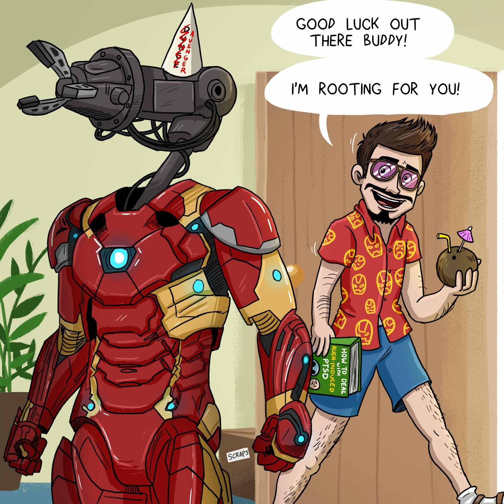 Iron man preparing for infinity war marvel memes marvel