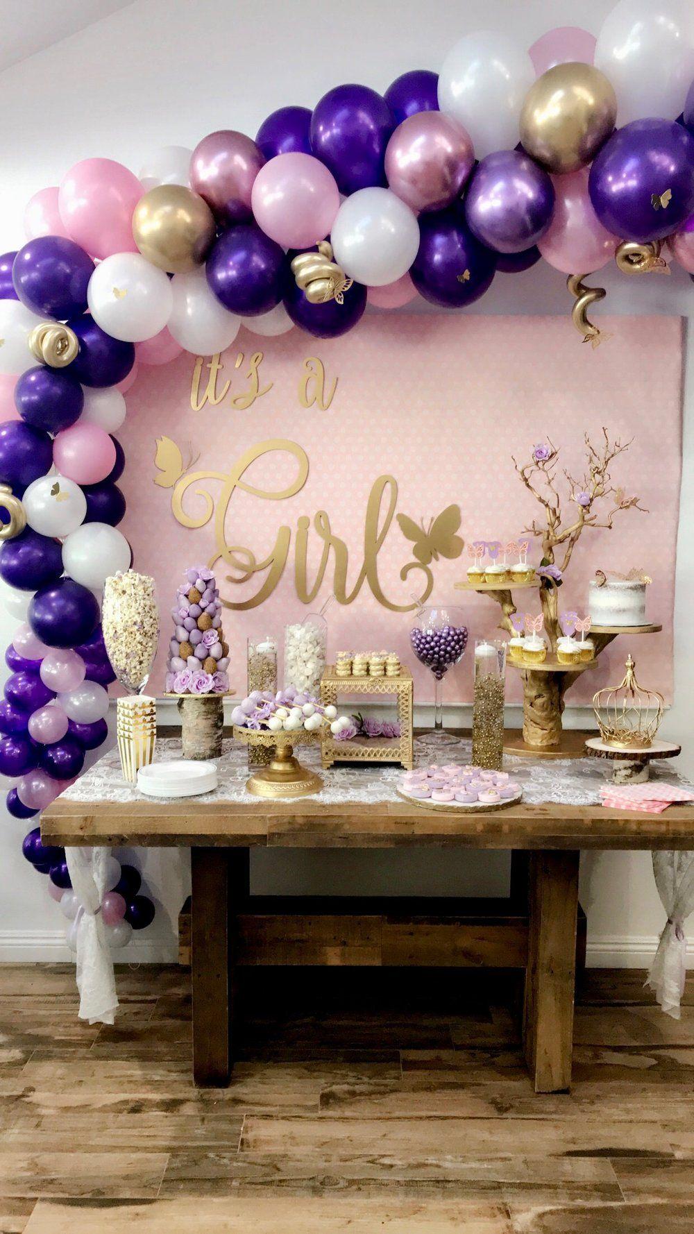 Purple Baby Shower Themes For Girls : purple, shower, themes, girls, Butterfly, Shower, Ideas-Butterfly, Shower-Butterfly-Its, Girl-www.SugarPartiesLA.com, Purple,, Shower,, Decorations