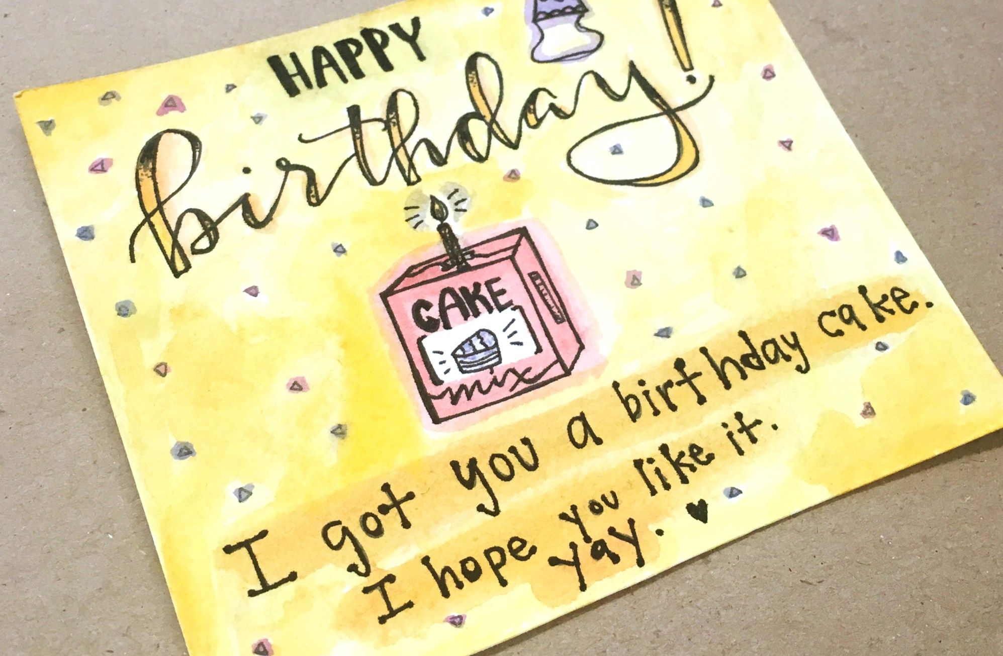 happy birthday card diy Happy birthday cards diy, Happy