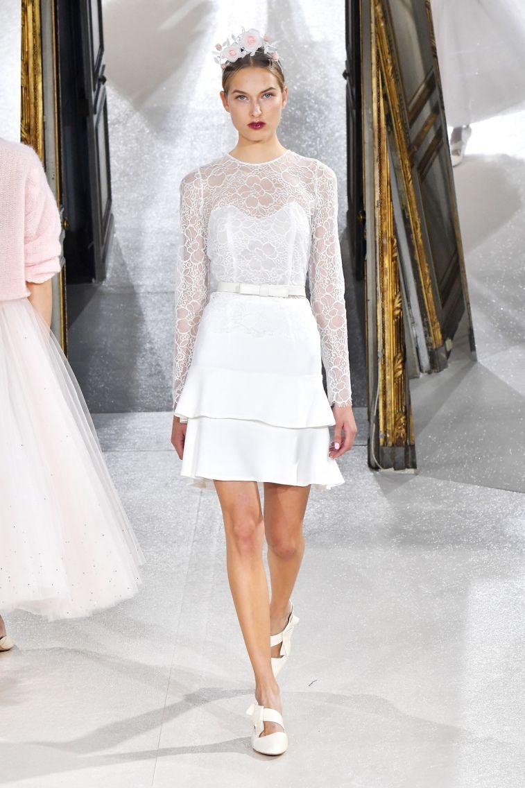 Kaviar Gauche Spring 2018 Wedding Dresses La Vie En Rose longsleeves short wedding dress #weddingdress #weddinggown #floralapplique