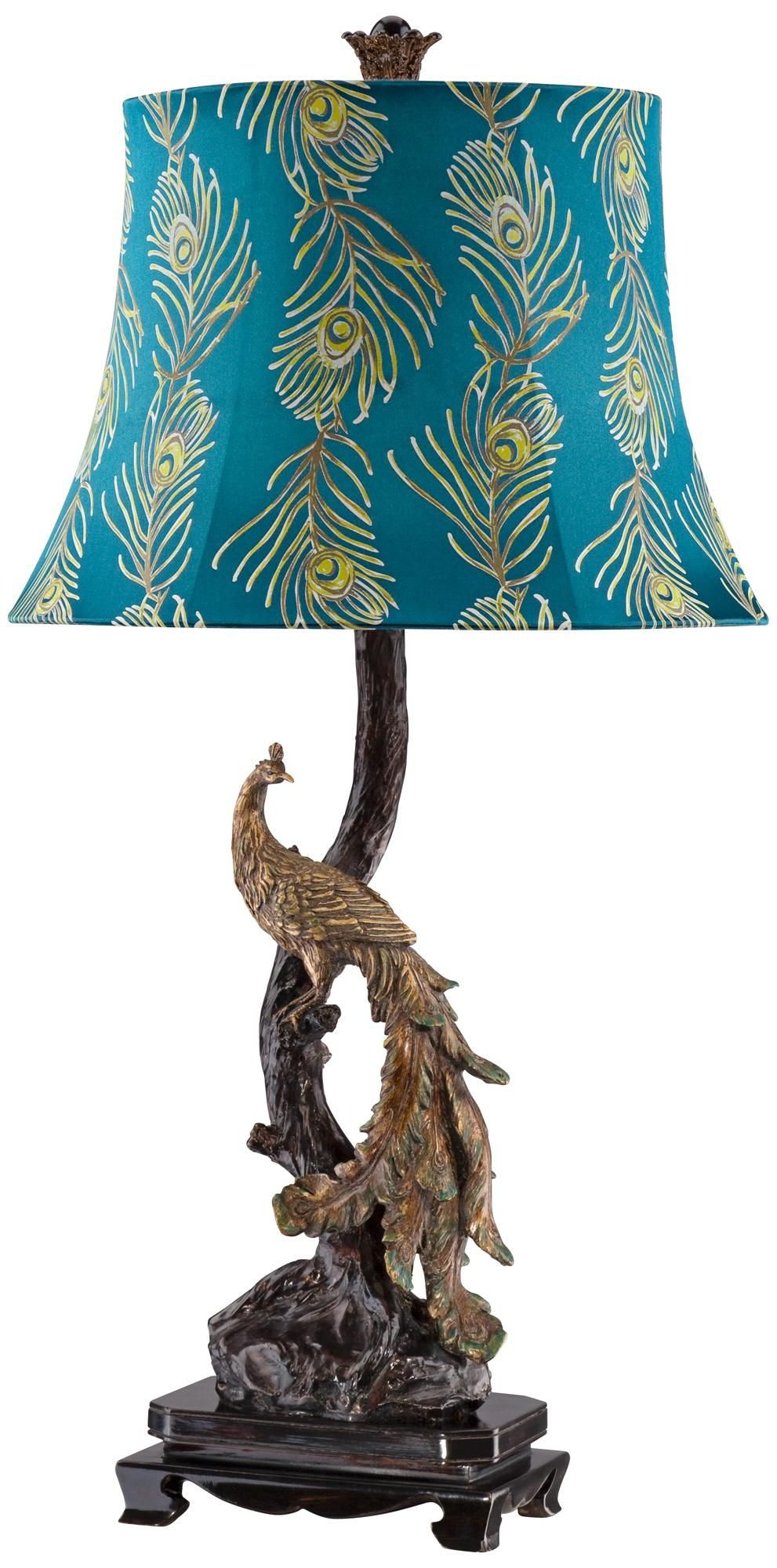 Exotic plumage peacock table lamp lampsplus grandbabies exotic plumage peacock table lamp lampsplus geotapseo Images