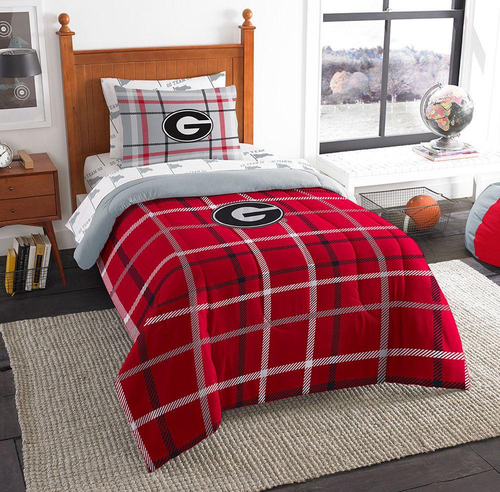 Georgia Collegiate Soft and Cozy Twin Comforter Set. Collegiate to a         G     Georgia Bulldogs   Pinterest