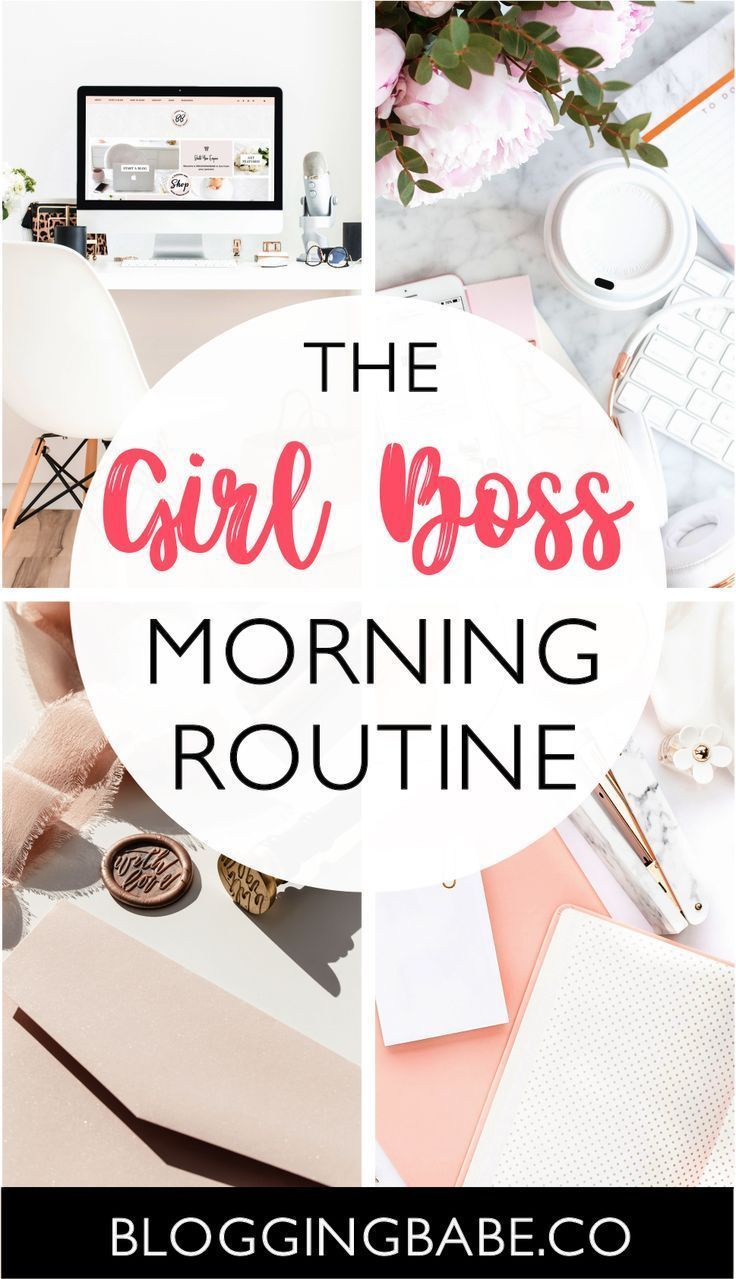 A #GIRLBOSS needs a special, productive morning routine to be able to run her day and get sh* done. This morning routine is perfect for every girl boss out there who want to start their day with a productive morning routine. Start your day like a boss! #GIRLBOSS #morningroutine #productivity #productivemorning #motivatingroutine