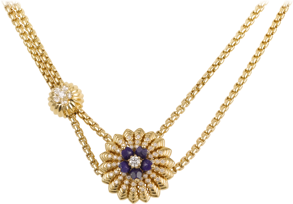Cactus de Cartier necklaceYellow gold, lapis lazuli, diamonds