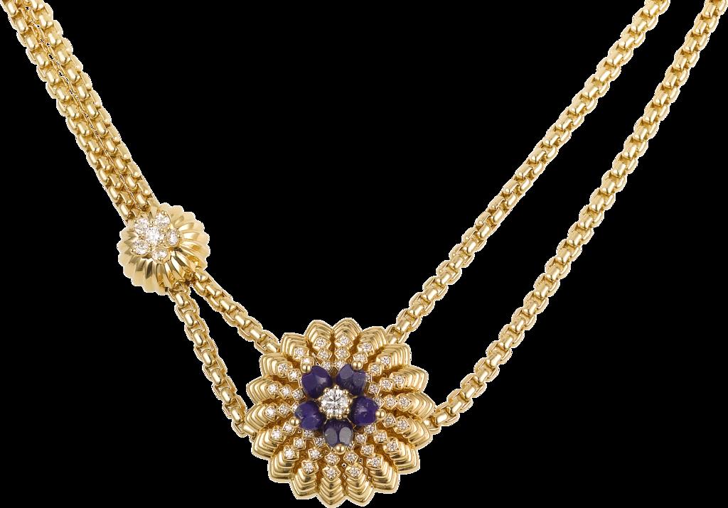 Cactus de Cartier necklaceYellow gold, lapis lazuli, diamonds