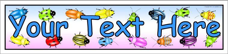 editable minibeasts bugs banner template sb8324 sparklebox