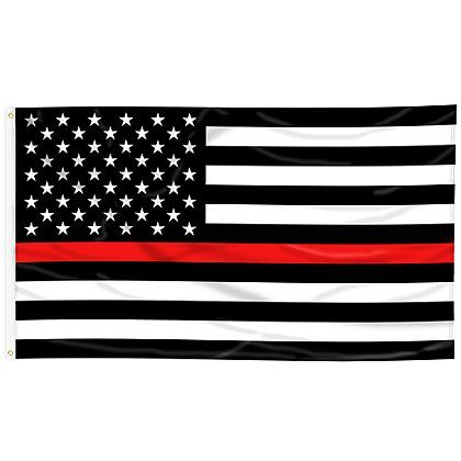 Thin Red Line American Flag The Thin Red Line American Flag Honors Our Brave Firefighters That Run Towards Blue Line Flag Black American Flag Thin Blue Lines