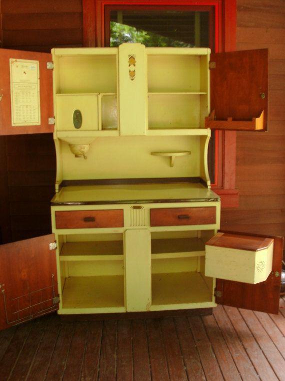 Vintage Sellers Hoosier Cabinet Cupboard with by ...