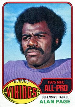 Became Minnesota Supreme Court Judge 1976 Topps #150 Alan Page Front