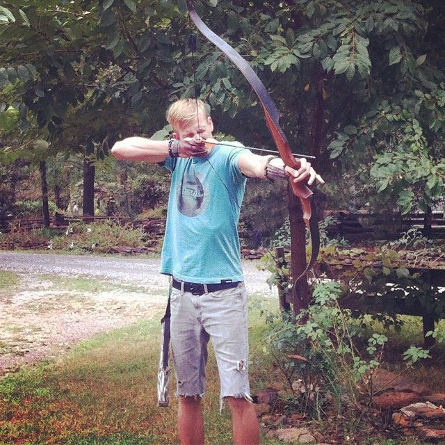 So I guess you could say my brother is the epitome of Legolas. @Brenda Nathman #lordoftherings #legolas #recurve #bowseason #letsgo #practice #ben #brother #lake #Padgram