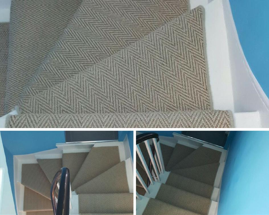 Herringbone Carpet To Stairs