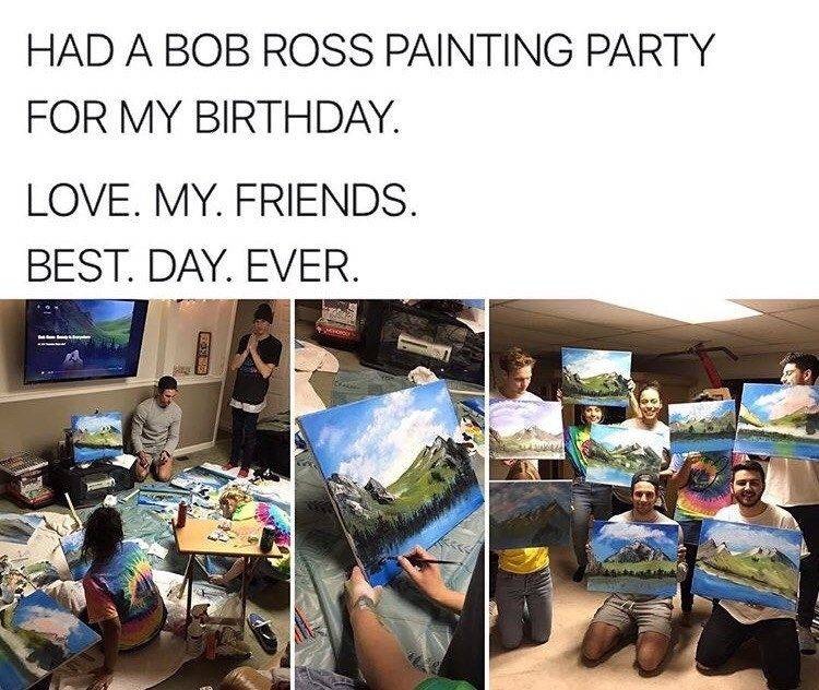 These good, gentle, artloving boys Bob ross, Funny