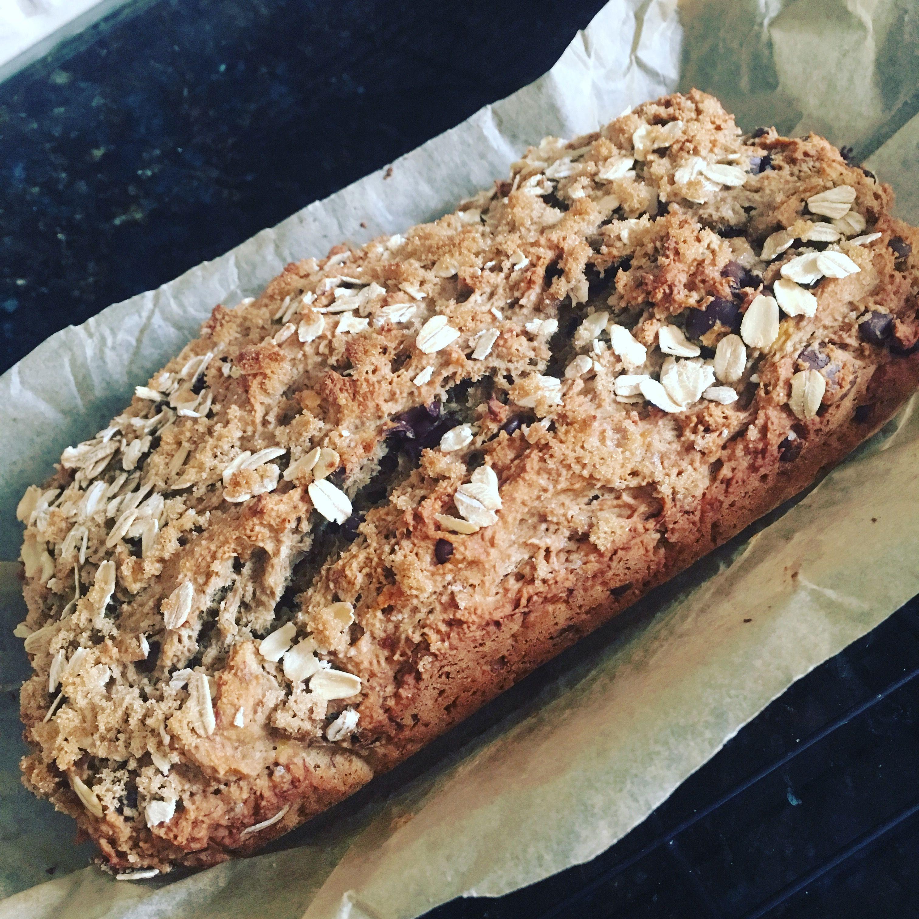 Gluten free vegan banana chocolate chip bread