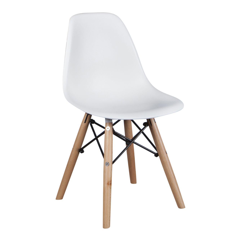 Kinder Eames DSW junior white Eames, Witte stoelen