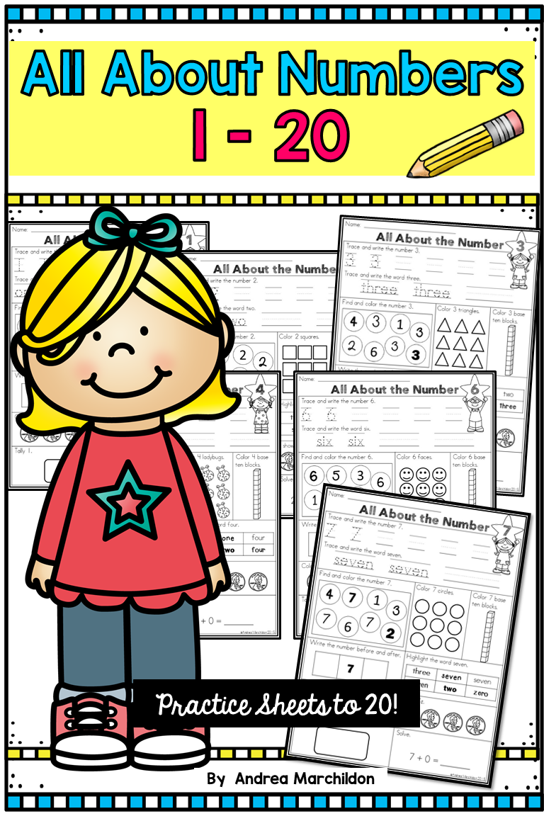 All About Number Worksheets 1 20 Are Perfect To Help Your Kindergarten And First Grade Students Learn Num Number Worksheets Learning Numbers First Grade Math [ 1152 x 768 Pixel ]