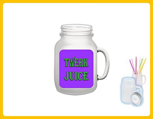 Twerk Juice Mason Jar By Bottoms Up Flasks - Frosted Glass 12oz Mason Jar - Mason #18 - Bridesmaid gifts (*Amazon Partner-Link)