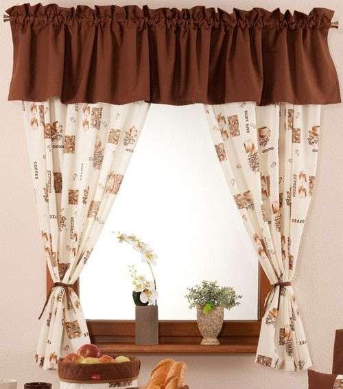 Tende per cucina (Foto) | Donna | Cucina | Kitchen curtain designs ...