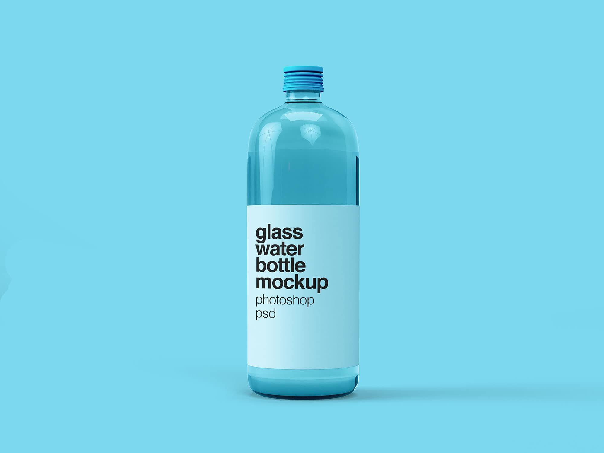 Free Glass Water Bottle Mockup Water Bottle Bottle Mockup Bottle