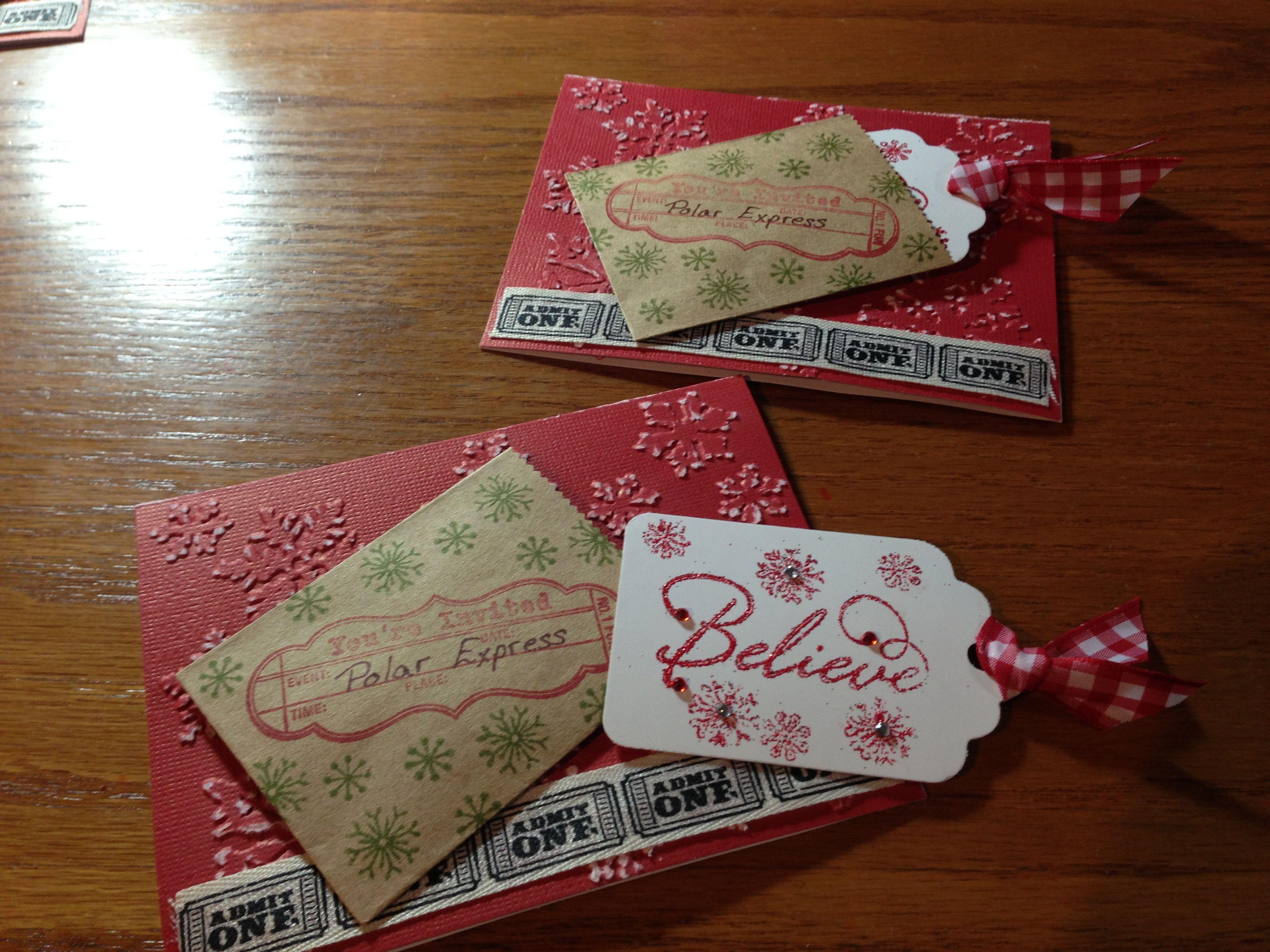 Polar Express Christmas Party Ideas Part - 35: Polar Express Party Invitations
