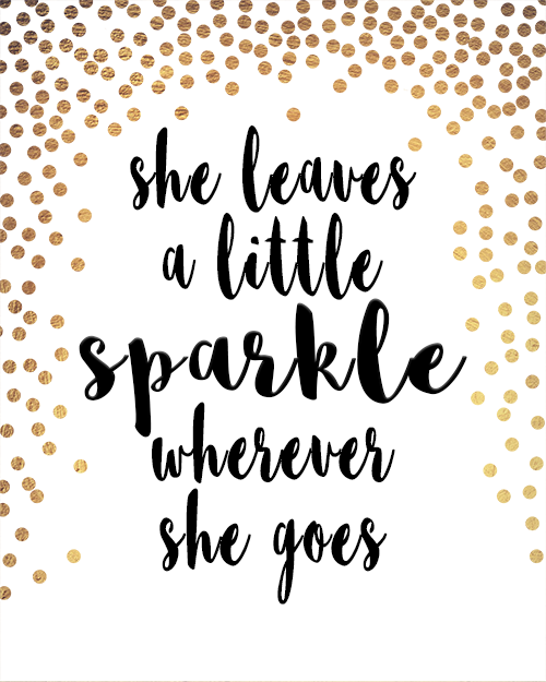 She Leaves A Little Sparkle Wherever She Goes Instant Download Print Olivia Mae Furnishings Inspirational Quote Prints Polka Dot Printable Instant Download Prints