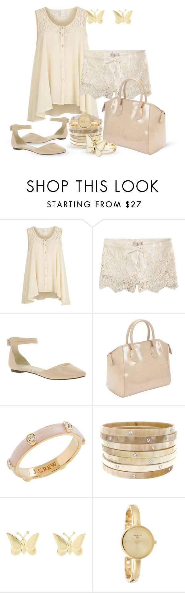 """""""Summer lace"""" by inmango ❤ liked on Polyvore featuring VILA, ...Lost, ASOS, John Lewis, J.Crew, Finesse and Infinite"""
